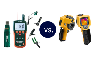 Moisture Probe Test vs Thermal Imaging